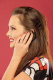 Woman said by mobile phone Royalty Free Stock Photos