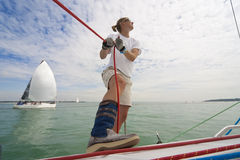 Woman Sailing Stock Image