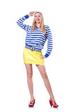 Woman in sailor costume Royalty Free Stock Photos