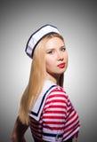 Woman in sailor costume  - marine concept Stock Photos