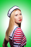 Woman in sailor costume  - marine concept Stock Images