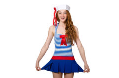 Woman sailor isolated Stock Photo