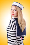 Woman sailor Royalty Free Stock Image