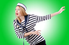 Woman sailor Royalty Free Stock Photo