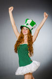 Woman in saint patrick Royalty Free Stock Photography