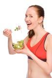 Woman with salad Stock Photos