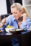 Woman with salad Stock Images