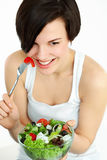 Woman with salad Stock Image