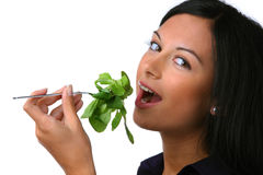 Woman with salad as a healthy diet Royalty Free Stock Photos