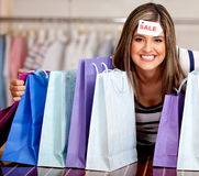 Woman on sale Royalty Free Stock Photos