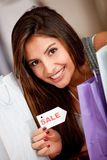 Woman on sale Stock Image