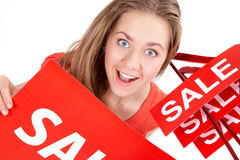 Woman on sale Stock Photo