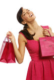 Woman with sale bags Royalty Free Stock Photo