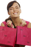 Woman with sale bags Royalty Free Stock Photography