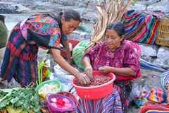Woman sale fruits. QUETZALTENANGO GUATEMALA april 28 2016 : Woman sale fruits in Quetzaltenango maket. This native market is the most colorful in Central America Stock Image