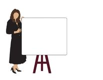 Woman Sales Meeting. Business woman at demo board durning a meeting Royalty Free Stock Image