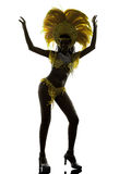 Woman samba dancer silhouette Royalty Free Stock Photo