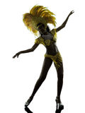 Woman samba dancer silhouette Royalty Free Stock Photo