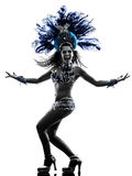 Woman samba dancer silhouette Royalty Free Stock Image
