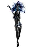 Woman samba dancer silhouette Stock Image