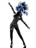 Woman samba dancer silhouette Royalty Free Stock Images
