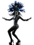 Woman samba dancer silhouette Stock Images
