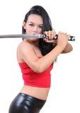 Woman samurai Royalty Free Stock Photo