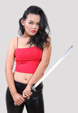 Woman samurai Royalty Free Stock Photos