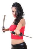 Woman samurai stock photos