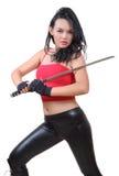 Woman samurai Royalty Free Stock Photography