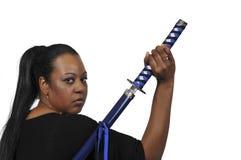 Woman Samurai Swordsman Stock Images
