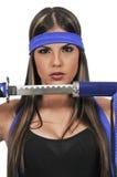 Woman Samurai Swordsman Stock Photography