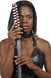 Woman Samurai Swordsman Royalty Free Stock Photos