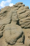 Woman of Sand Stock Image