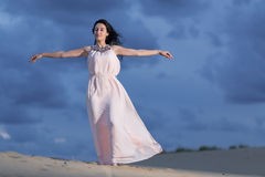 Woman on a sand dune Royalty Free Stock Photos