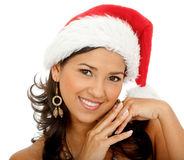Woman santa Stock Images