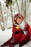 Woman-santa Royalty Free Stock Image