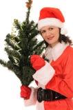 Woman  santa Royalty Free Stock Photography
