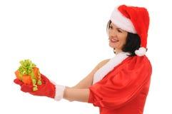 Woman  santa Royalty Free Stock Image