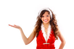Woman in Santa Claus Royalty Free Stock Photo