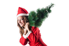 Woman santa claus Stock Photos