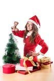 Woman santa claus royalty free stock photography
