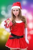 Woman santa claus Stock Photos