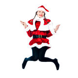 Woman santa claus christmas shopping Stock Photo