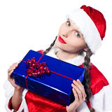 Woman santa claus christmas shopping Stock Photo
