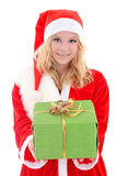 Woman in santa claus costume Stock Photography