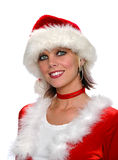 Woman in Santa claus costume Royalty Free Stock Photos