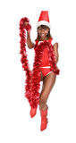 Woman in Santa Claus costume Stock Image