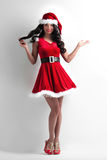 Woman in santa claus costume Royalty Free Stock Image