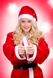 Woman in Santa Claus dress Royalty Free Stock Photo